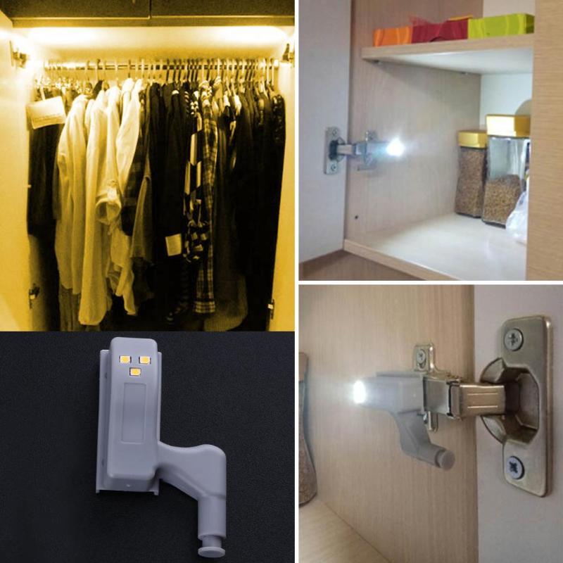 LED Sensor Cabinet Light Universal Wardrobe Light Cupboard Inner Hinges Lamp Home Kitchen Bedroom Closet LED Night Light