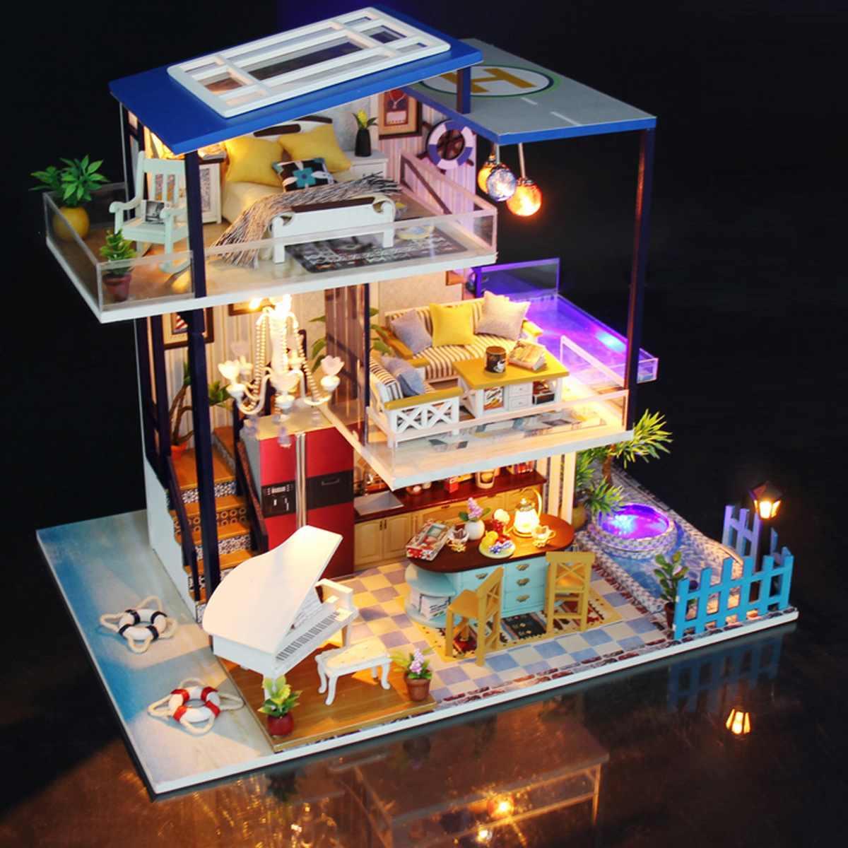 Pk Bazaar Toys For Children Lbla Mini Three Layer Diy Doll House 3d