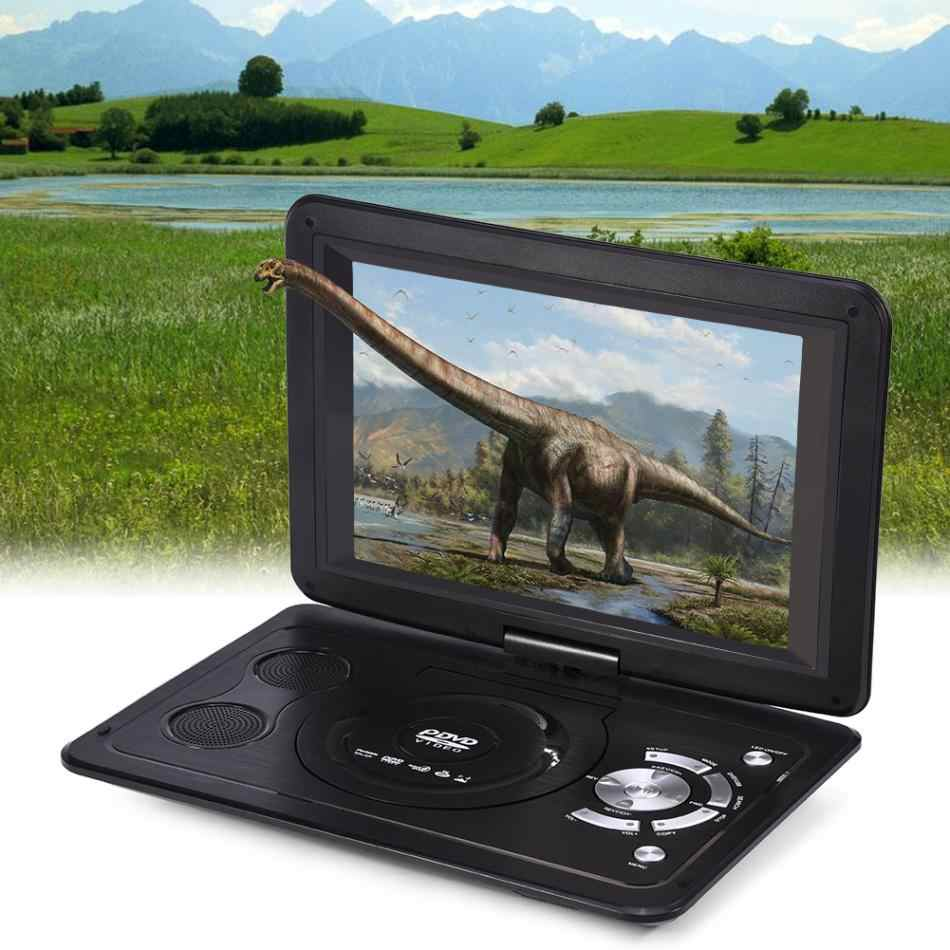 Powstro 13.9 inch 110-240V HD TV Portable DVD Player 800*480 Resolution 16:9 LCD Screen for EU Plug DVD Players 2018