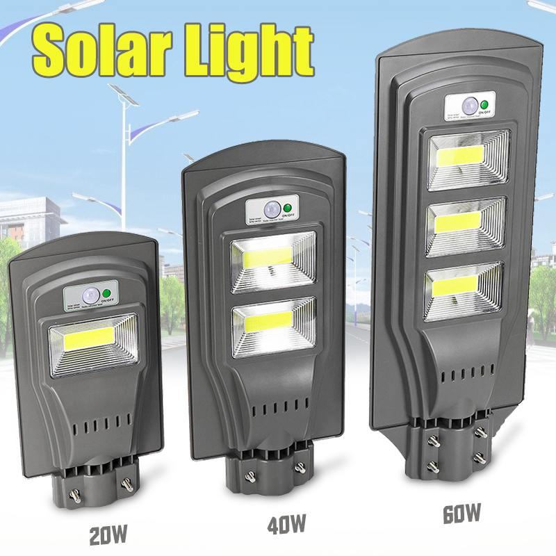 Smuix 20W/40W/60W LED Solar Lamp Wall Street Light Super Bright Radar PIR Motion Sensor Security Lamp For Outdoor Garden Yard