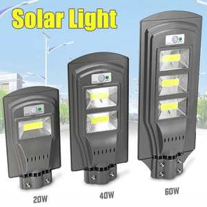 Solar-Lamp Street-Light Motion-Sensor Wall Garden Outdoor Smuix for Yard LED Super-Bright-Radar