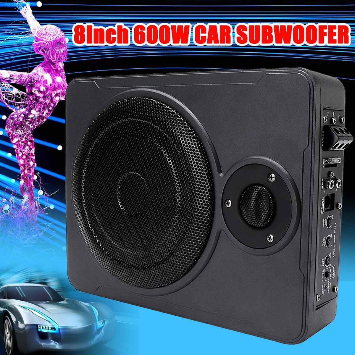 8 Inch 600W Car Home Subwoofer Under Seat SubStereo Subwoofe