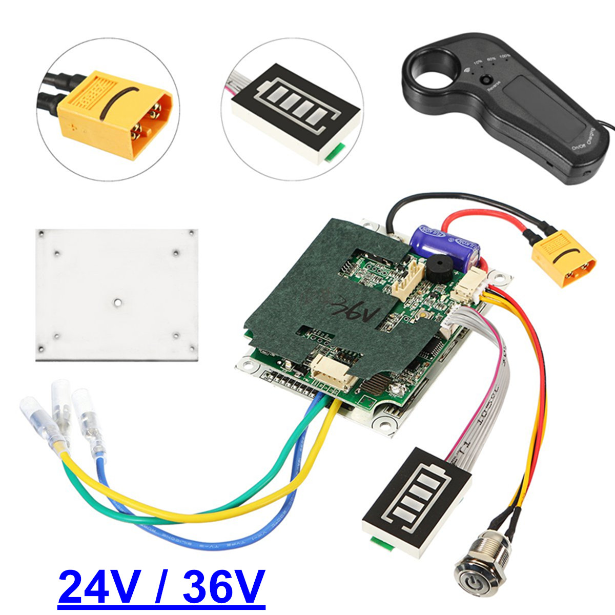 24/36V Single Belt Motor Electric Skateboard Controller Longboard ESC Substitute Parts Scooter Mainboard Instrument Tools