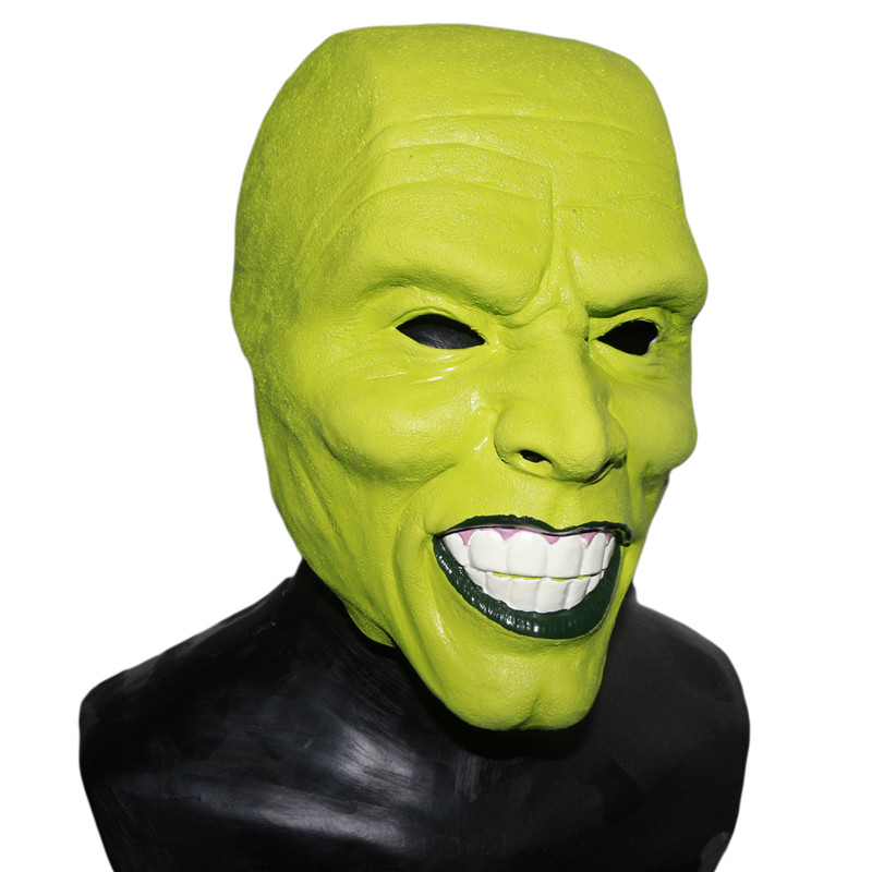 Halloween Party Cosplay Details Loki latex mask Jim Carrey Costume Fancy Dress Famous Movie Film Props 'The Mask' image