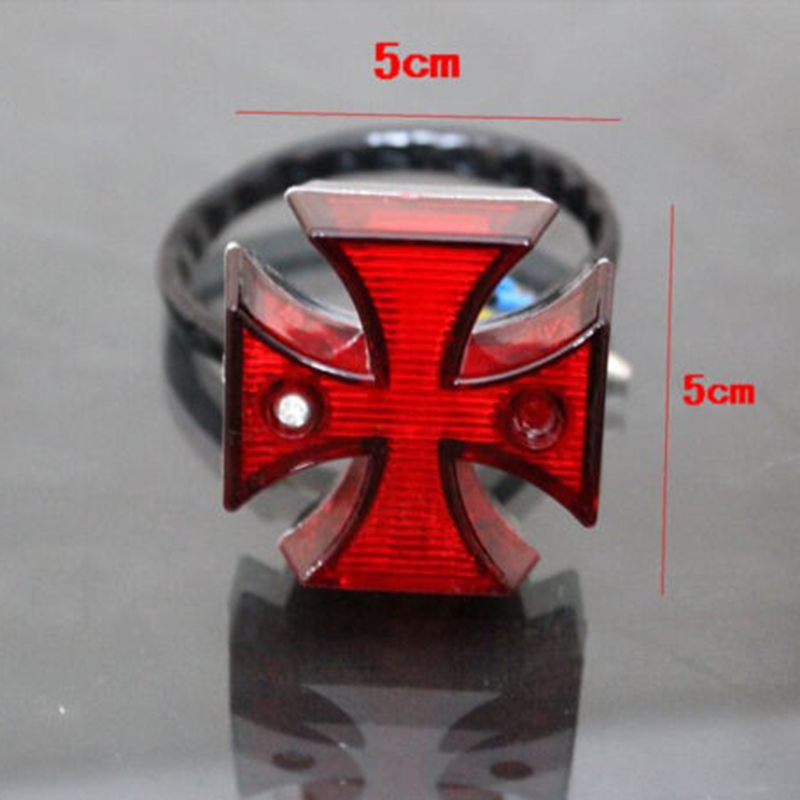 1pcs Choppers Sport Bike Maltese Cross LED Rear License Plate Tail Light Useful For Most Dual Sport Bikes, Motorcycles, Choppers
