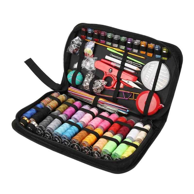 1 Set Portable Travel Sewing Box Kitting Needles Thread Stitching Sewing Accessories Kit Embroidery Tools Sewing Kits