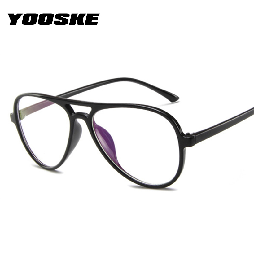 YOOSKE Brand Glasses Frame Women Men Myopia Eyeglasses Vintage Transparent Glasses Female Fashion Designe Fake Glasses