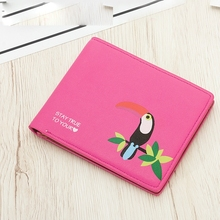 Ladies Short Wallet Love Bird Print Cross Section Small Purse Cartoon Cute