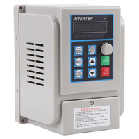 AC 220V 8A 1.5KW Converters Inverters Variable Frequency Drive VFD Speed Controller for Single phase 1.5kW AC Motor Tool