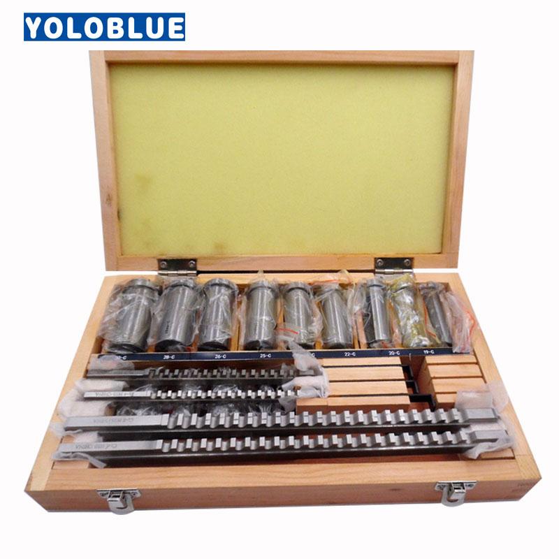 22pcs hss Groove keyway broach broaches set key tool Bushing Shim Set Metric System 12 30