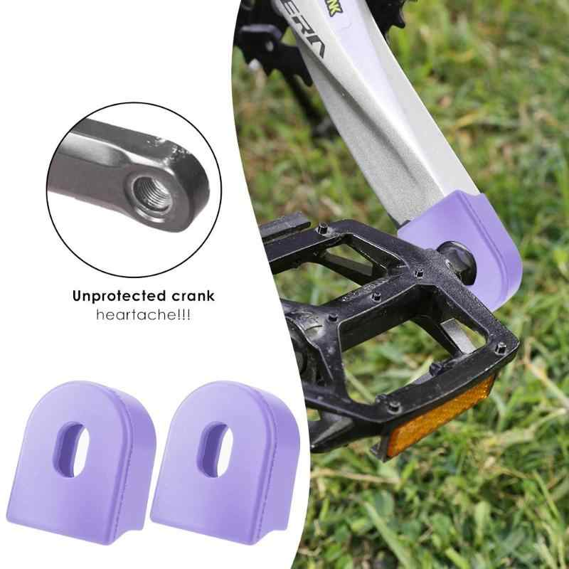 クランク保護スリーブ自転車アクセサリークランクセットプロテクター mtb マウンテンバイクギアペダルクランクシリコン保護カバー