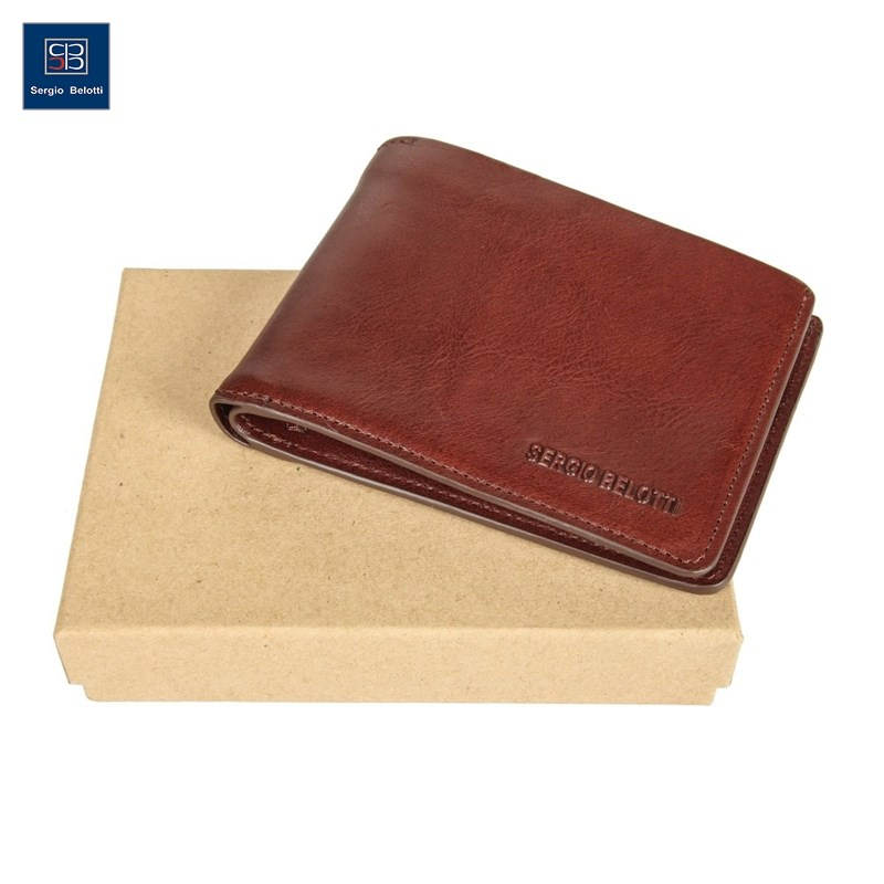 Coin Purse Sergio Belotti 3542 IRIDO Brown new fashion purse wallet female famous brand card holders cellphone pocket gifts for women money bag clutch coin purse ladies