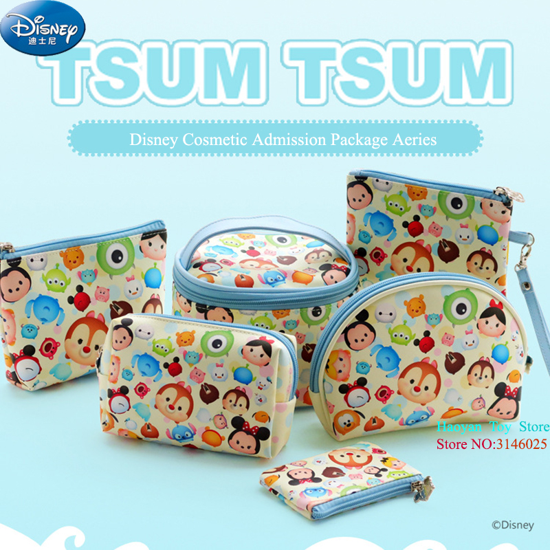 Genuine Disney 6pcs/Set Tsum Tsum Mickey Multi-function Women Bags Wallet Purse Baby Care Bags Fashion Mummy Bag For Girls Gifts