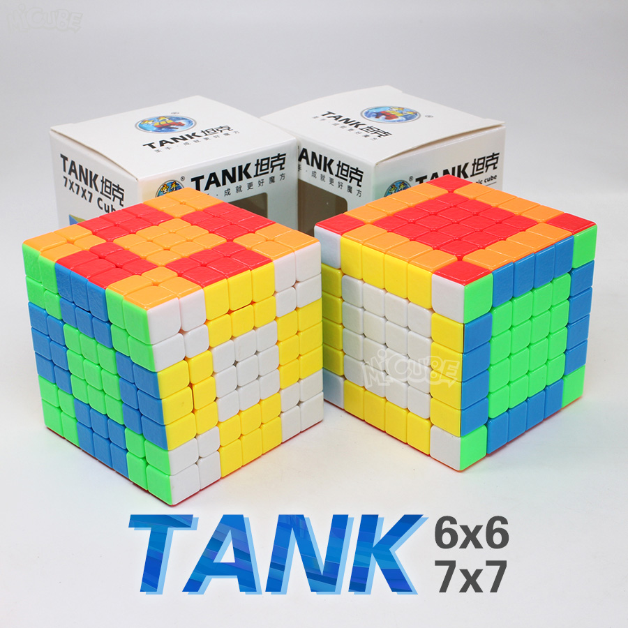 Shengshou Tank 7x7 6x6 Cube Speed Magic Stickerless Puzzle Cubo Magico For 6x6x6 7x7x7 Stickerless Puzzle Education Toy Children