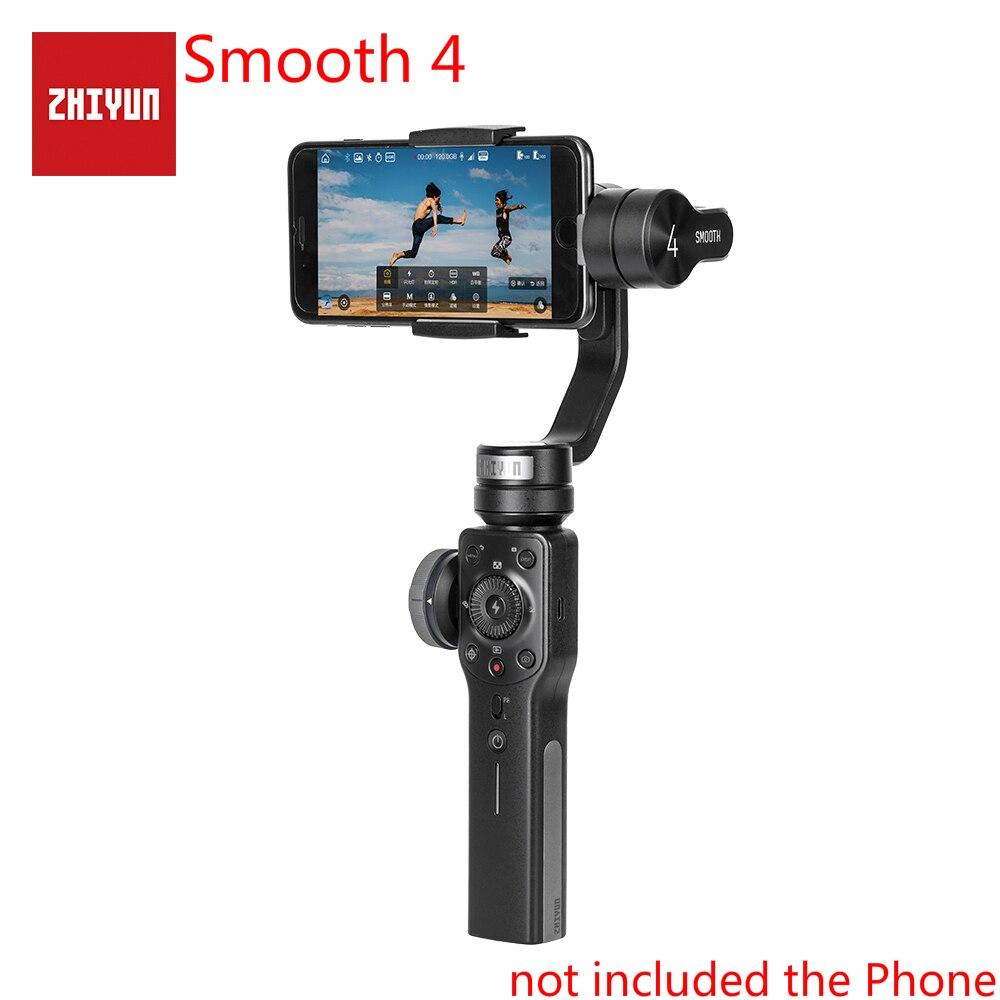 ZHIYUN гладкой 4 Смартфон Gimbal 3-х осевой ручной шарнирный стабилизатор для IPhone X XS samsung стабилизатор Estabilizador