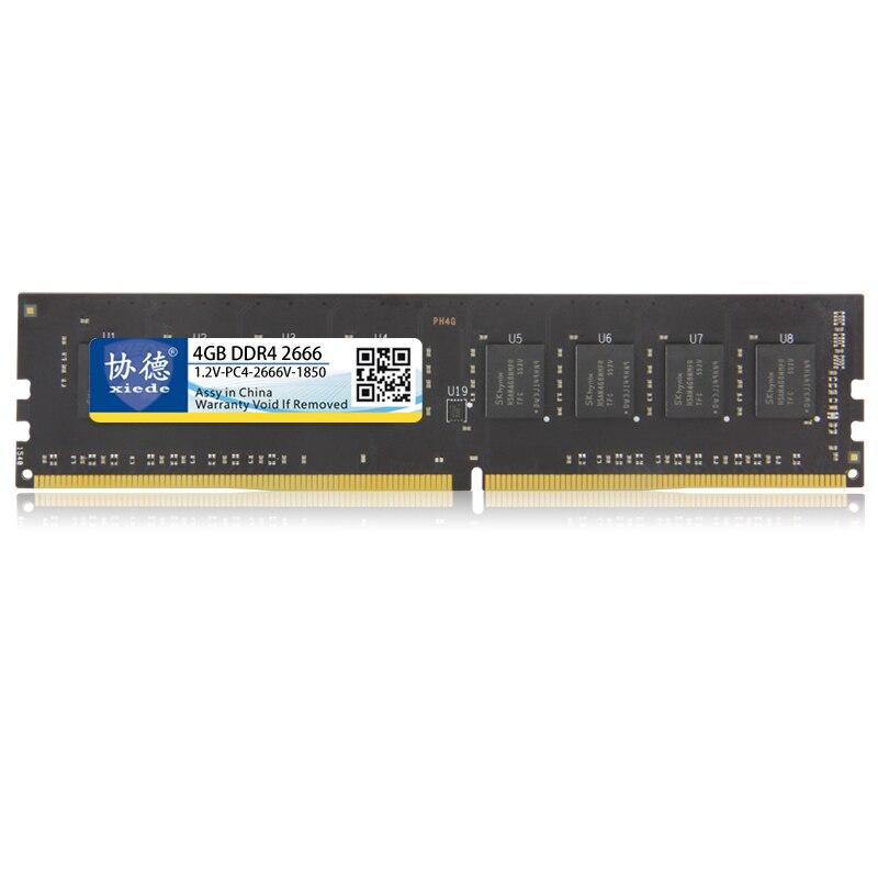 Xiede ordinateur de bureau mémoire vive Module DDR4 2666 PC4-2666V 288Pin DIMM 2666 mhz Pour AMD/Inter