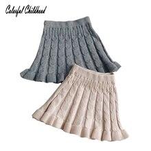 Хлопковая трикотажная юбка для маленьких девочек; сезон весна-осень; однотонная детская юбка-американка в полоску; детские юбки-пачки; одежда для малышей