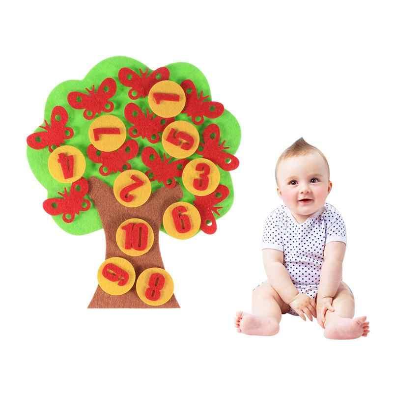 1 Набор, Детские цифры, обучающие игры ручной работы, сделай сам, войлочная развивающая игрушка, игрушки из нетканого материала