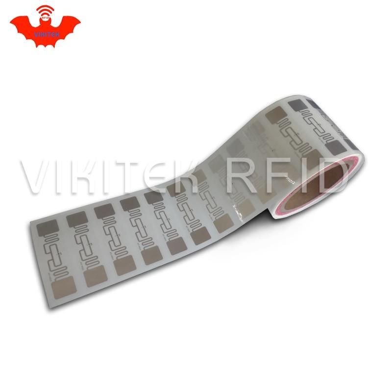 Разрешенный к использованию иностранным лицам UHF RFID стикер 9662 мокрый Декор 3000 штук в рулоне 860-960 МГц Higgs3 EPC c1g2 ISO18000-6C используется для RFID тег