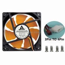 цена на 1PCS Ultra Quiet 8025 80mm x 80mm x 25mm DC 12V Hydraulic Bearing Cooler Cooling Fan