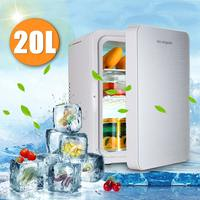 20L Portable Mini Refrigerator Car Camping Home Fridge Cooler & Warmer 12V/220V User friendly Handle Double layer Removable