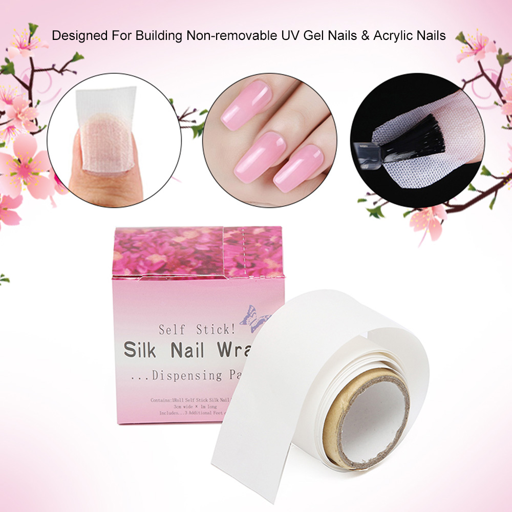 Stickers & Decals nail art make up Adhesive Silk Nail Wraps Protector Fiberglass Reinforce Nail Tools UV Gel Acrylic Nail Wrap