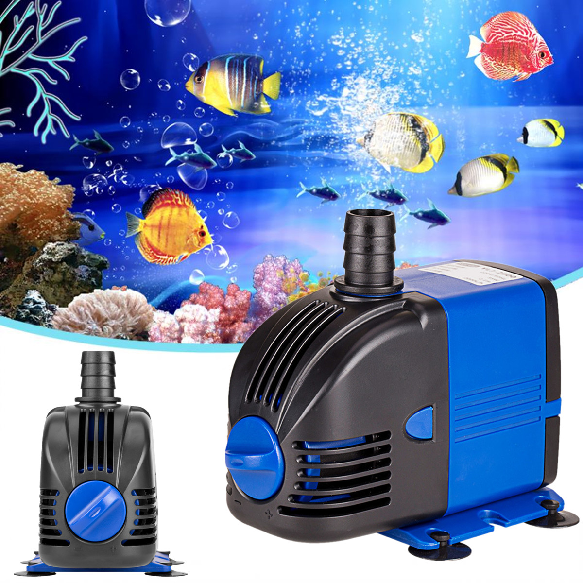 Wasser Pumpe Aquarium AC220-240V 50Hz 3-60 W Tauch Aquarium Powerhead Brunnen Hydrokultur UNS Stecker Teiche Aquarien einstellen