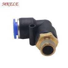 Air Pneumatic Connector PL10 Series Plastic Air Hose Fittings Externally Threaded L-shaped Elbow  For  Free Shipping tubing connect 9 5mm threaded rapid screw air fittings page 3