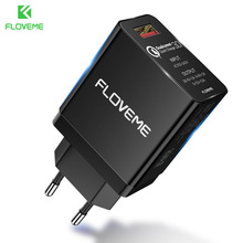 FLOVEME QC 3.0 USB Quick Charger For Samsung S9 S8 Note 8 9 Xiaomi Mobi