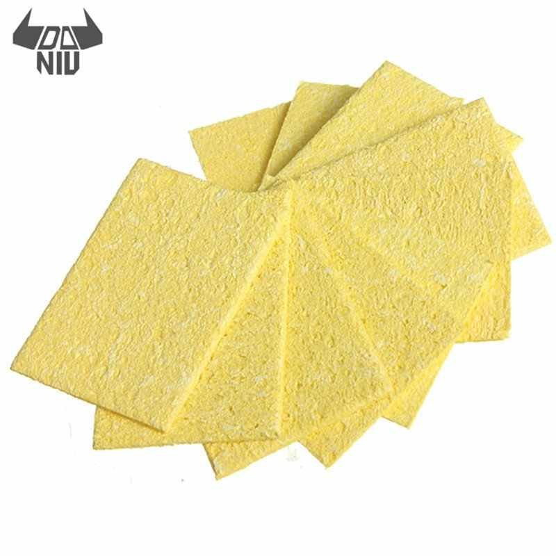 DANIU 10Pcs/set Welding Soldering Iron Tip Replacement Sponge Cleaning Pads for Electric Soldering Tip Cleaning Tool