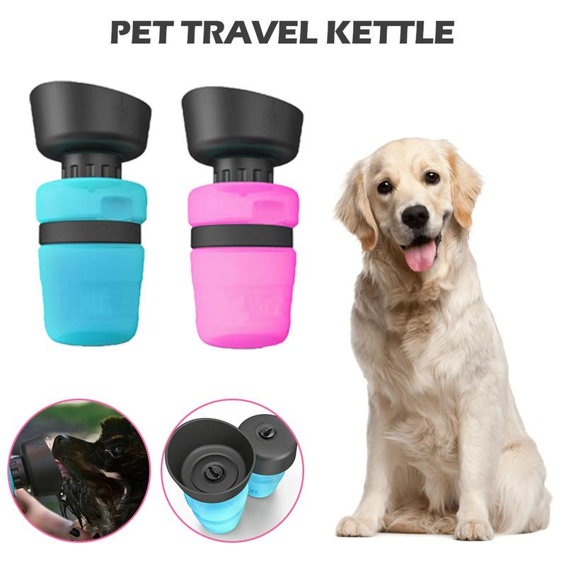 Dog Outdoor Sports Squeeze Water Bottle Cup font b Pet b font Travel Kettle Dog Portable