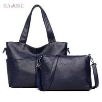 Women Handbag Leather Casual Tote Bags Shoulder Bags 2 Sets Famous Brand Designer Women's Messenger Bags Ladies Compound Bag