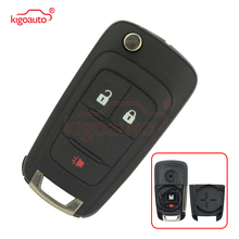 Kigoauto 20873621 Flip key shell 2 button with panic  OHT01060512 for Chevrolet Equinox Sonic 2010 2011 2012 2013 2014 2015 for chevrolet camaro bumblebee spoiler primer unpainted abs material 2010 2011 2012 2013 2014 2015