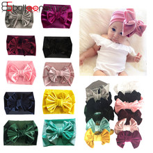 BalleenShiny New Fashion Big bowknot Headband Baby Girls Bow Hair Band Children Kids Cotton Turban Head Wrap Hair Accessories(China)