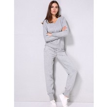 V Neck Pullover Sweater  Cashmere Trousers Knitted Suit Casual Two Piece Set Woolen And Warm