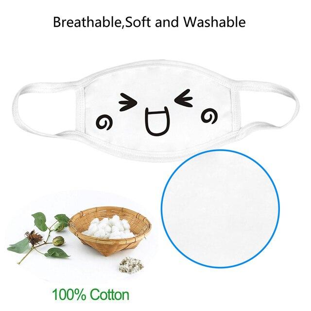 2019 Fashion 3pcs White Anti-Dust Cotton Cute Bear Anime Cartoon Mouth Mask Kpop Mouth Muffle Face Mouth Masks Women Men 3