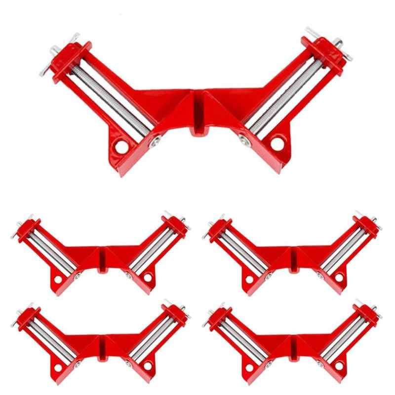 1/4pcs 90 Degree Right Angle Picture Frame Fish Tank Corner Clamp Holder Woodworking Hand Kit Clamps