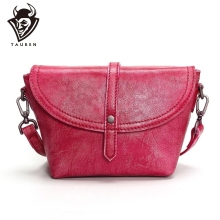 Tauren 2019 Hot 100% Genuine Leather Crossbody Bags For Women Casual Mini Candy Color Messenger Bag Girls Flap Shoulder