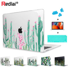 Redlai Cactus Hard Case Shell Screen Protector Keyboard Cover For MacBook Air 13 A1466 A1932 Pro Retina 12 13 15