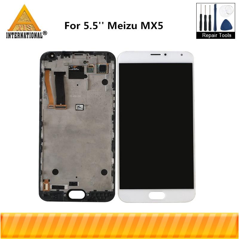 Original testé pour 5.5 ''Meizu MX5 MX 5 Axisinternational écran d'affichage LCD + écran tactile numériseur avec cadre pour écran MX5