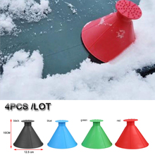 4x Magic Snow Shovel Cone Ice Scraper Car Winter Window Windshield Cleaning Tool free shipping