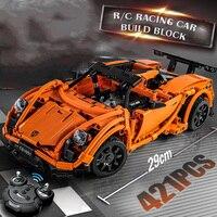 421pcs Technic Series Super Car RC Car Building Blocks Prosches Model set Brick Compatible Legoing Toys Gift for children