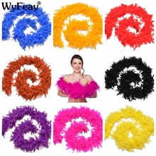 2 Meter fluffy Turkey Feather Boa About 50 Grams skirt Trim for Party/Costume/Shaw chicken Strip wedding decorations