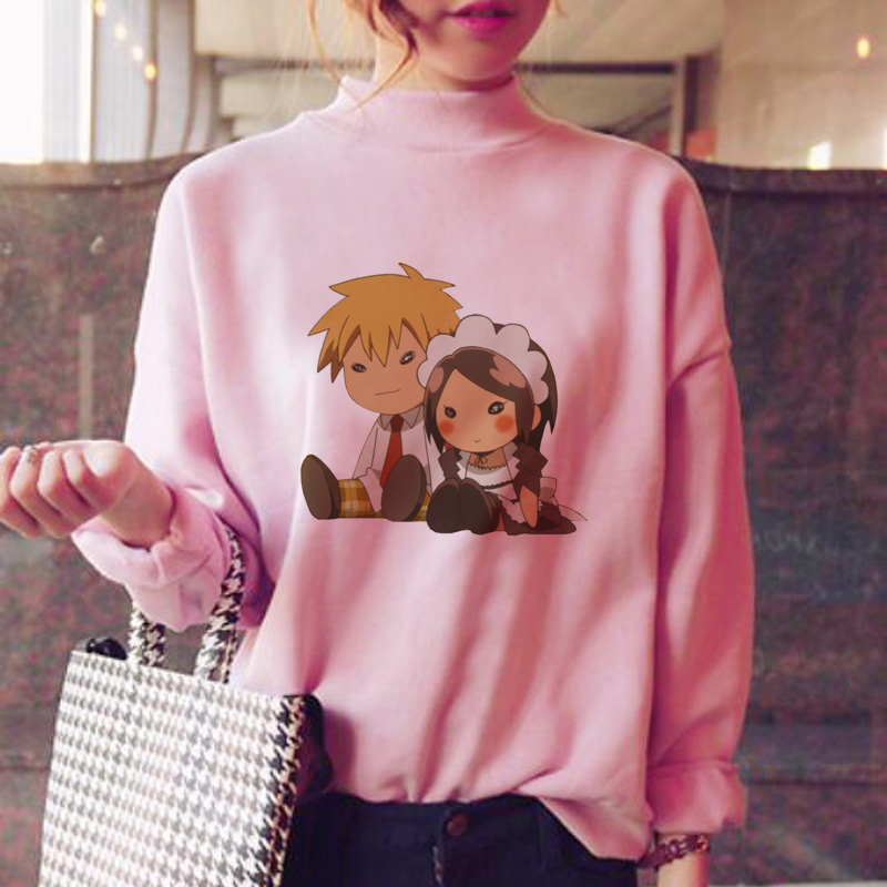 Kaichou Wa Maid Sama Hoodies Women Fleece Sweatshirt Female Harajuku Fashion Hood Clothes Warm Streetwear Oversized Clothes