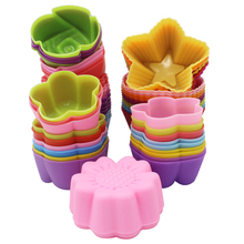 6Pcs Nonstick Silicone Molds Cupcake Muffin Cake Mold Heat Resistant Silicones DIY Bakeware