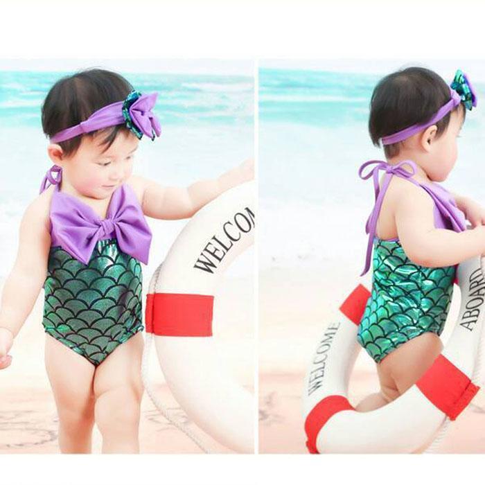 1 X Della Ragazza Di Un Pezzo Del Costume Da Bagno Plus Size Costume Da Bagno Del Bambino Della Ragazza Due Pezzi Di Estate Dei Capretti Dei Vestiti Di Nuotata Sirena Bikini Ragazza Costumi Da Bagno