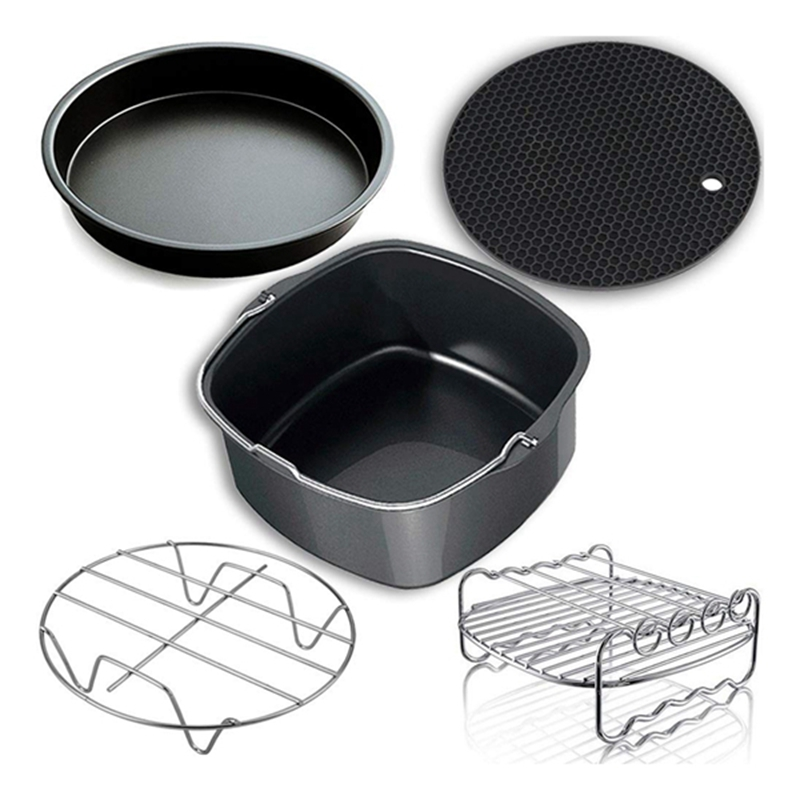 Hot Air Fryer Accessories Air Fryer Accessories And Air Fryer Accessories Fit For All 3.7QT-5.3QT-5.8QT,Set Of 5-7 Inch