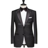 Tailor Made Black Men Suits for Wedding Prom Groom Tuxedos Peaked Lapel Slim Fit Man Suit Set 2 Piece Jacket Pants Custom Blazer
