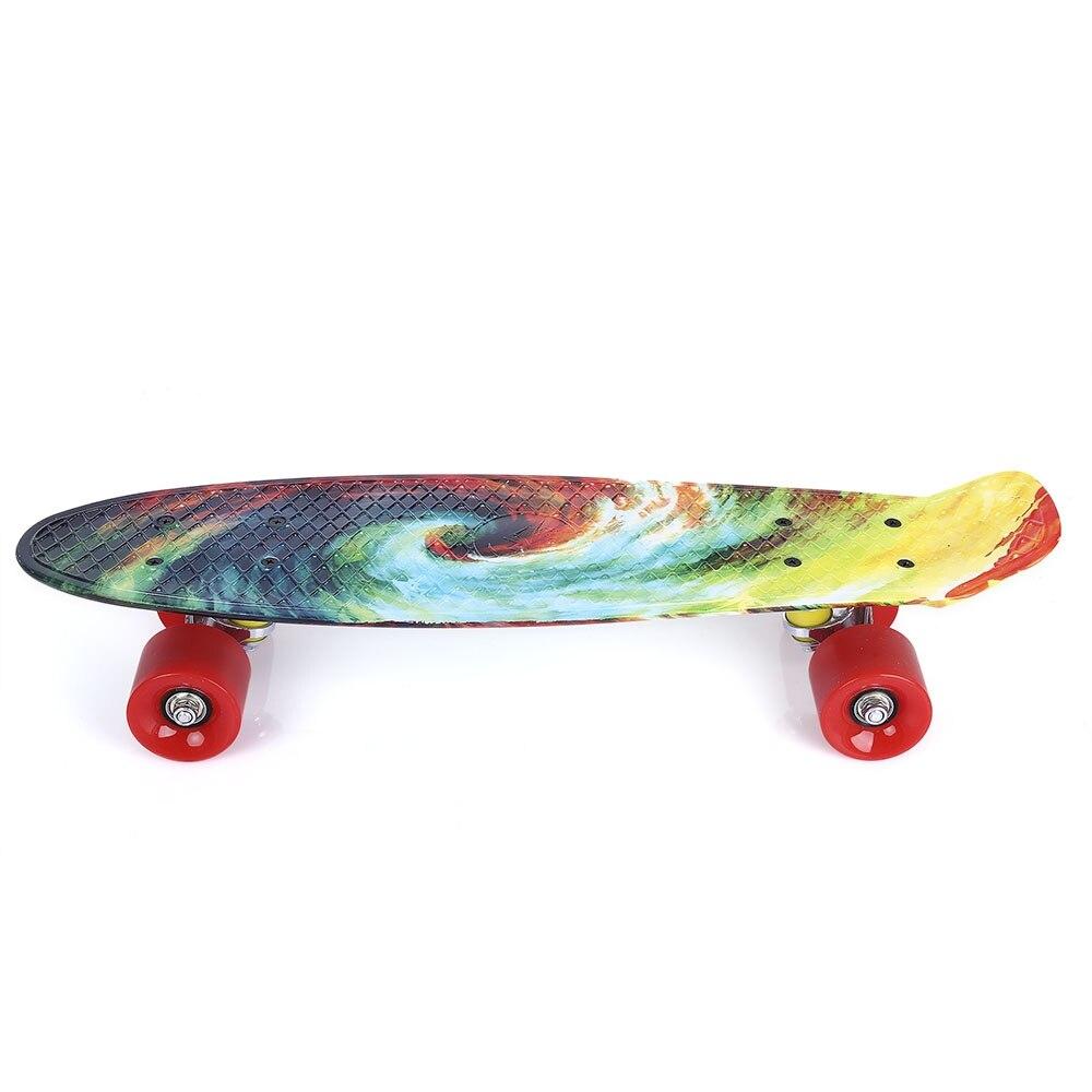 Quatre roues 22 pouces Mini Cruiser Skateboard rue longue planche à roulettes Sports de plein air PP dérive planche plate-forme pour adultes enfants - 3