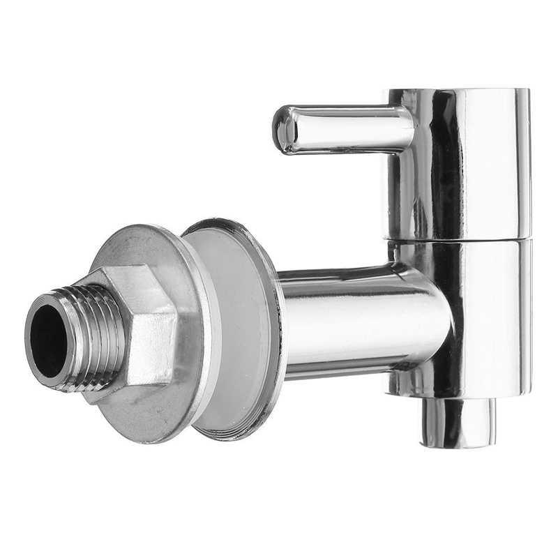 Beverage Drink Dispenser Water Wine Barrel Spigot/Faucet/Tap Valve, Silver